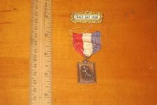 """ANTIQUE BRONZE 1936 TRACK & FIELD MEDAL PIN  """"TRACK DAY 1936"""" LOOK!!!!!!"""