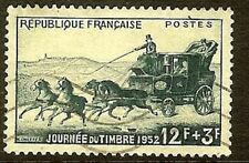"""FRANCIA FRANCOBOLLO STAMP N° 919 """" GIORNO IL FRANCOBOLLO 1952 MALLE POSTA """""""