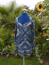 OASIS TAILLE 12/36 en Coton Fleuri Robe/Tunique avec manches longues très bon état