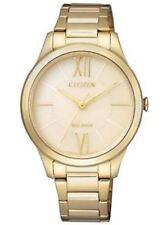 Relojes de pulsera Citizen de acero inoxidable dorado para mujer
