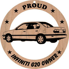 Infiniti G20 Wood Ornament Engraved