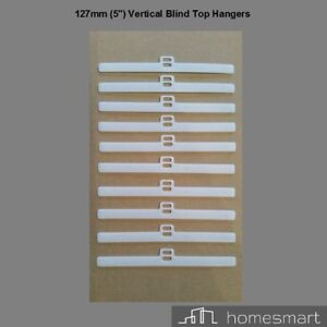 "127mm (5"") Top Hangers Vertical Blind. Double Slot. Sets of 20.30.40.50. Spares"