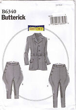Edwardian Riding Breeches Jacket Jodhpurs Butterick Costume Sewing Pattern S M L