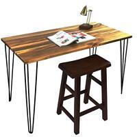 """Signstek 28"""" DIY Hairpin Table Legs Three-Rod with Heavy Duty Metal Set of 4"""