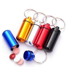 STASH CAN PILL BOX CASE CONTAINER KEYRING CHAIN PILLBOX RUBBER SEAL KEYCHAIN UK