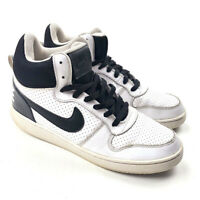 Nike Court Borough Mens Mid Sneaker White Black 838938 -100 Size: 8.5