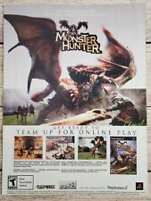 Monster Hunter Playstation 2 PS2 2004 Promo Ad Art Print Poster - Capcom Classic