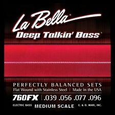 LA BELLA  760FX-M DEEP TALKIN' FLATWOUND BASS STRINGS -  MEDIUM SCALE , 39-96,