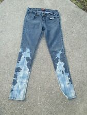 Ladies 21 blue Jeans bleach-dyed up-cycled size 26