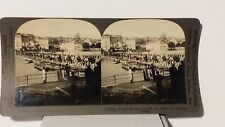 WWI,  French Troops Crossing the Marne by Pontoon Bridge, Keystone Stereoview
