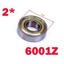2pcs 6001Z Deep Groove Ball Bearing Sealed Shielded 12x28x8mm AU