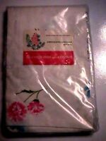 Vintage Blossoms and Bows Printed Percale Pillowcases w/ Flowers