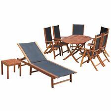 New Outdoor Furniture Set 9 Pieces Patio Wicker Dining Table Chairs Lounge