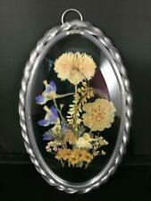 Dried Flowers Under Glass Plaque