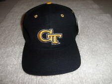 """Georgia Tech """"GT"""" Blue & Gold Fitted Hat by The game Size - 7 3/8"""