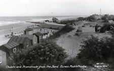 Mablethorpe Chalets from Dunes sepia RP old postcard used 1937 Empire View