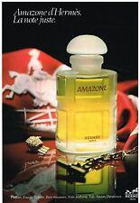 """Publicité Advertising 1980 Parfum Eau de Toilette """"Amazone"""" par Hermès"""