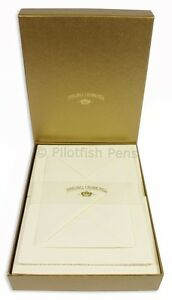 Crown Mill Luxury Letter Writing Paper Stationery Set A5 Sheets/Envelopes Cream