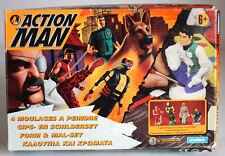 VERY RARE 1997 ACTION MAN MOLDS MAL SET NINJA DR X AQUA POLICE HASBRO NEW MIB !