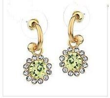 Swarovski Crystal Yellow Gold Fashion Earrings