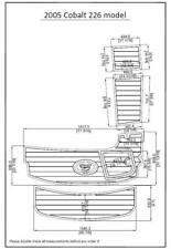 "2005 Cobalt 226 model Swim Platform Pad Boat EVA Teak Decking 1/4"" 6mm"