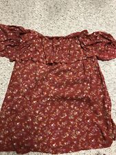 NWOT Urban Outfitters Kimchi Blue SIZE M red floral off the shoulder dress