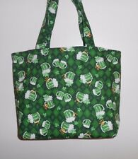 Handmade Saint Patrick's Day Beer Mug Shamrock Horse Shoe Tote Bag Purse
