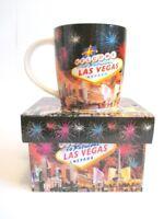 Las Vegas Porzellan Kaffeetasse mit Box Strip Collage Coffee Mug