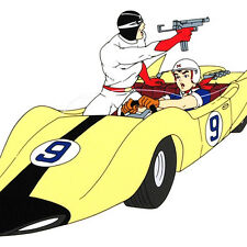 SPEED RACER and DRIVER X in the number 9 Shooting Star Car w/coa
