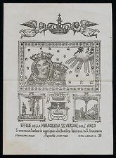 santino stampa popolare 1800 SS.VERGINE DELL'ARCO rinaldini