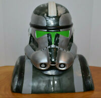 "STAR WARS COMMANDER GREE COOKIE JAR CERAMIC 2005 CLONE TROOPER 11"" BUST STATUE"