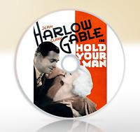 Hold Your Man (1933) DVD Classic Romance Drama Movie / Film Clark Gable