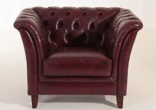 Barnsley Einzelsessel Chesterfield Sessel Einzelsofa Leder rot