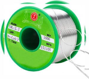 SANTOO Stagno per Saldatura 100g 1mm 97.3% Stagno, 2% Argento, 0.7% Rame,...