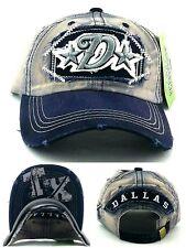 Dallas New Leader Vintage Cowboys Colors Gray Blue Era Dad Strapback Hat Cap f83b77429be