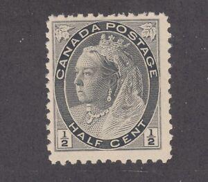 Canada Sc 74 MNH. 1898 ½c black Queen Victoria, fresh & F-VF