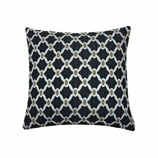 """MOROCCAN-STYLE CHAIN LINK BLACK CHENILLE WOVEN 18"""" - 45CM CUSHION COVER"""
