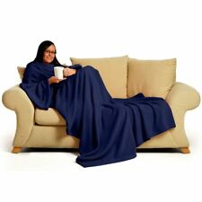 "Genuine Snug Rug DELUXE �""� ADULT Cosy Warm SLEEVED Arms Blanket Fleece Official"