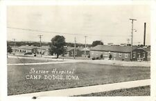 Soldier's Mail, A View Of The Station Hospital, Camp Dodge, Iowa IA RPPC 1944