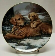 """Hamilton Collection 1991 """"Golden Moments"""" by Jim Lamb Collectors Plate (0572A)"""