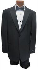 NEW Mens Bagir 40R Black 1 Button Peak Tuxedo Suit Jacket & Pants Formal Wedding