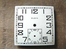 New Old Stock Vintage Square Elgin Dial For 1930's 6/0 Wristwatch Movements