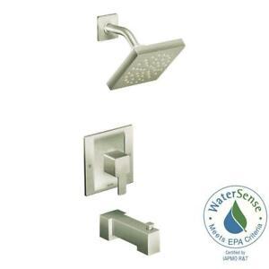 Moen TS2713EPBN 90-Degree Posi-Temp Tub/Shower Trim Brushed Nickel
