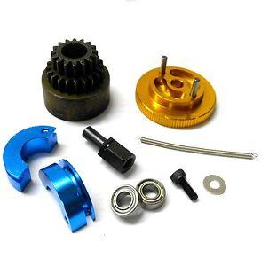 TD10095 1/10 RC Alloy 2 Speed Pin Shoe 16-21T Clutch Kit Flywheel Yellow Bearing