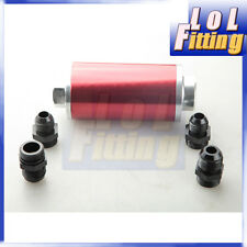 10AN AN10 High Flow Billet Fuel Filter 40 Micron Car Truck Stainless Steel