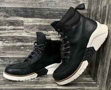 Timberland Men's Leather Ankle High-Top Boot Lightweight Black Snicker Chukka 9