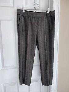 PANTS - Ann Taylor LOFT - Wool Blend - Black/White Herringbone - Ankle-10 - NWT