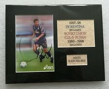ANDREI KANCHELSKIS FIORENTINA & RUSSIA SIGNED DISPLAY 10 x 8 AUTOGRAPH IN MOUNT
