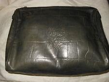 Borsa Guia's Pochette Clutch Busta vintage bag 80's Pelle Leather grigia ^