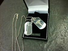 925 Silver Army Style Medical Alert Dog Tag Necklace on Ball Chain.SOS alert